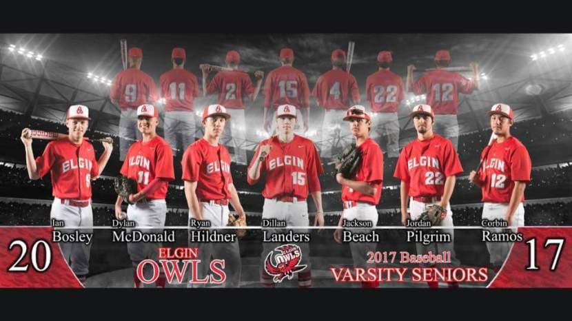 2017 Elgin Owls Varsity BaseballSeniors