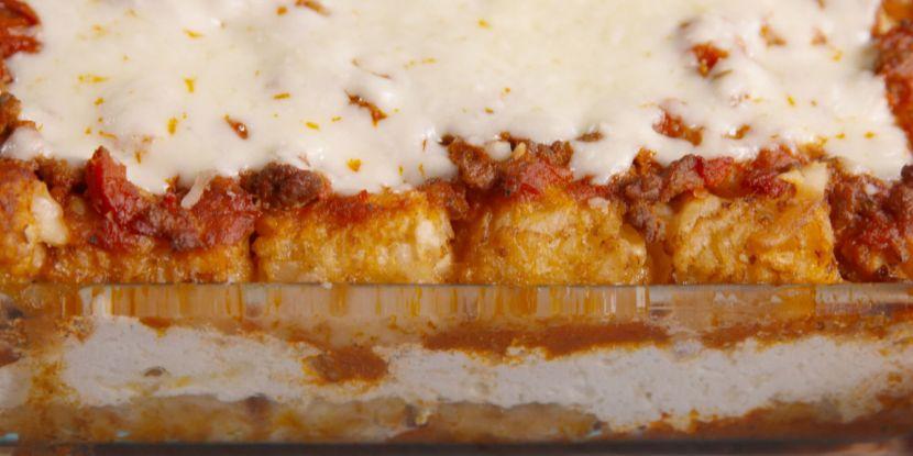 Totsagna ( Tater Tot Lasagna)Recipe